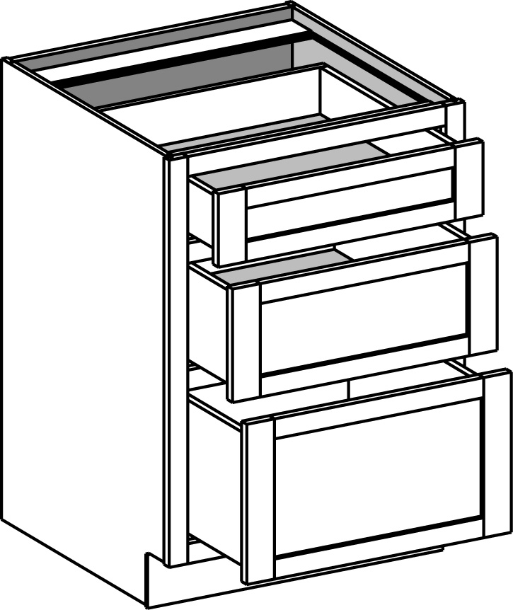 three drawer kitchen base cabinets base cabinets cabinet joint 27183