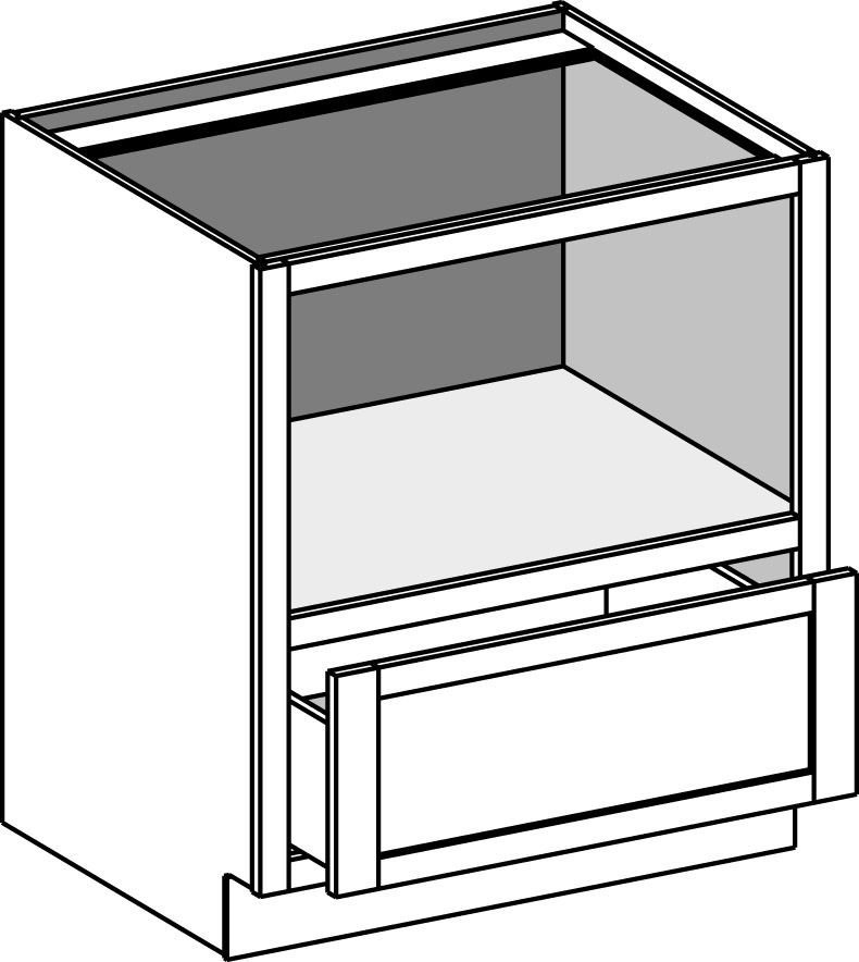 Base Under Counter Microwave Cabinet
