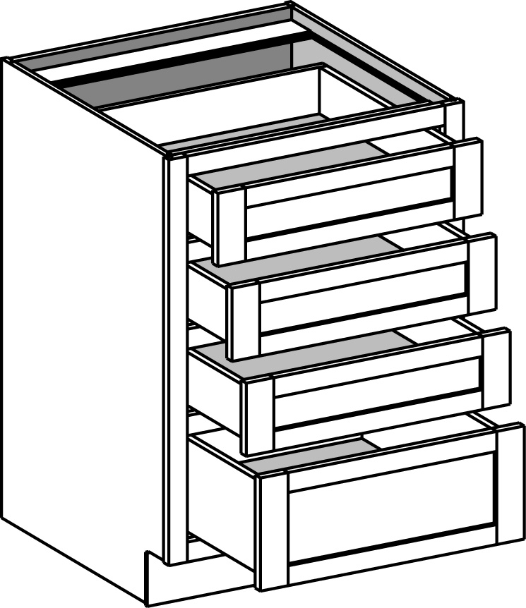 4 drawer kitchen cabinets base cabinets cabinet joint 10235