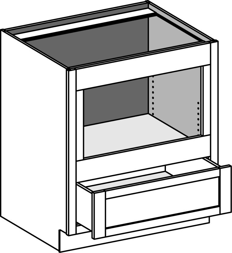 base builtin microwave cabinet