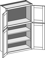 Two Tier (Transom) Wall Cabinet – Butt Doors