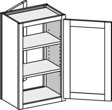 Double Entry Wall cabinets, Single Door