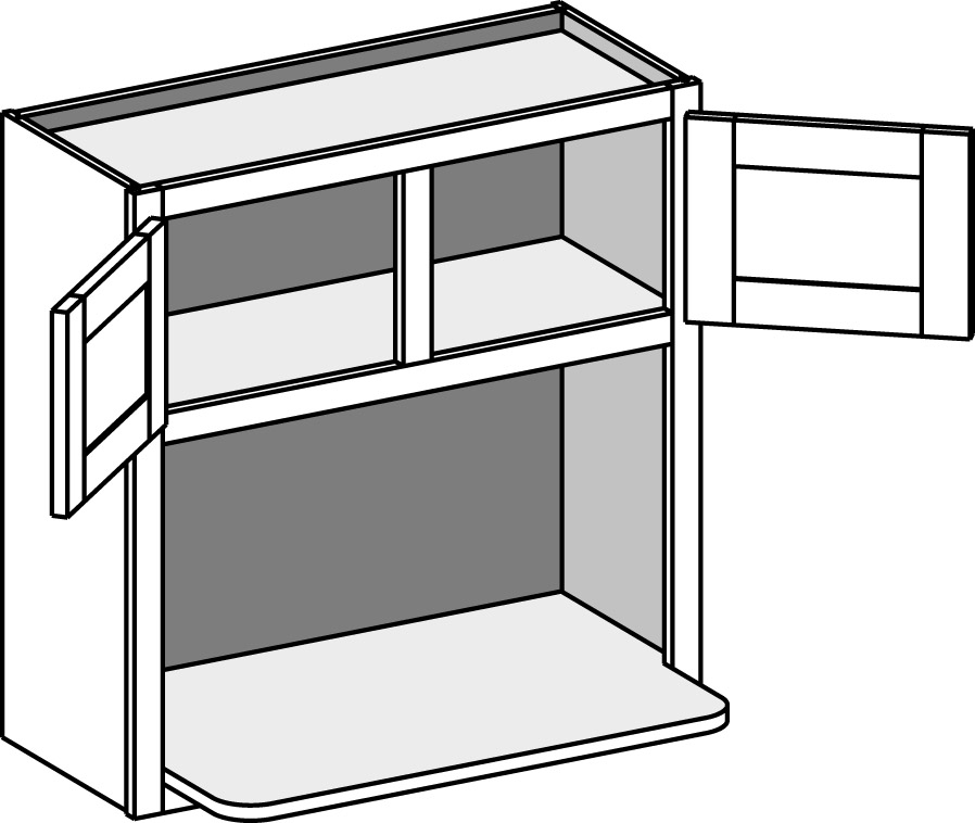 Wall Microwave with Shelf 2730 3048