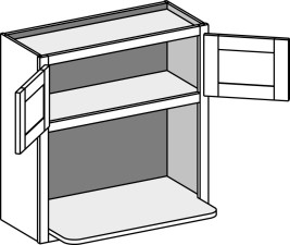 Wall Microwave Shelf Cabinet – Butt Doors