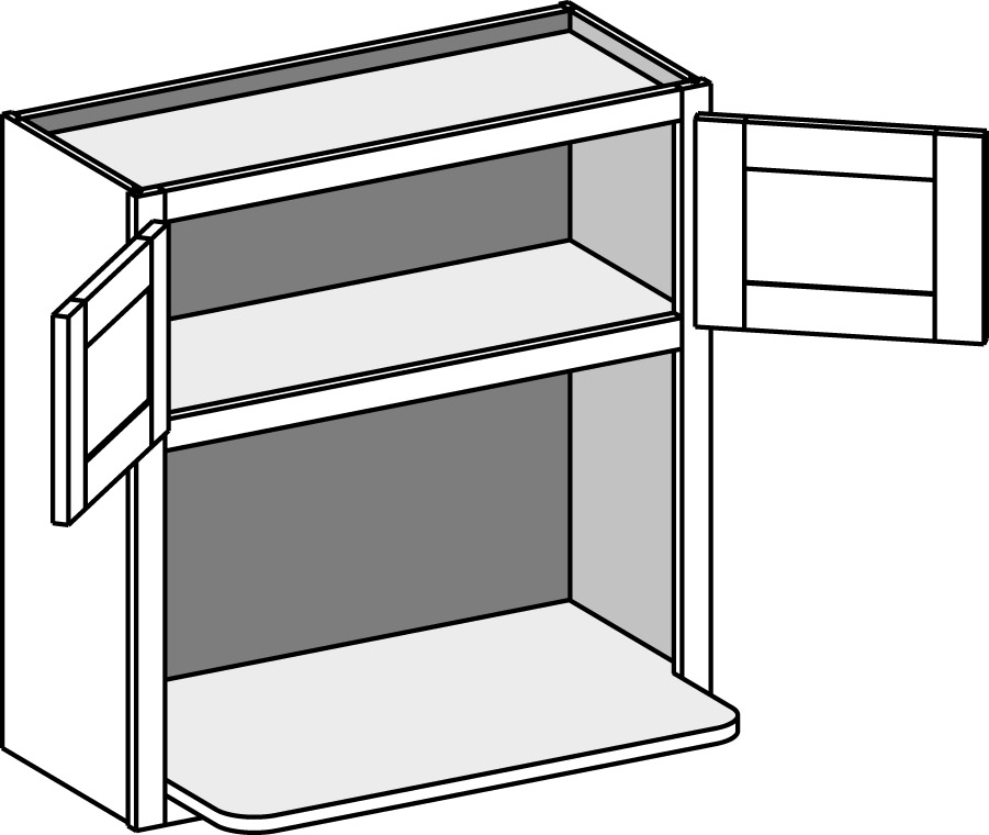 Wall cabinets cabinet joint for Built in microwave cabinet size