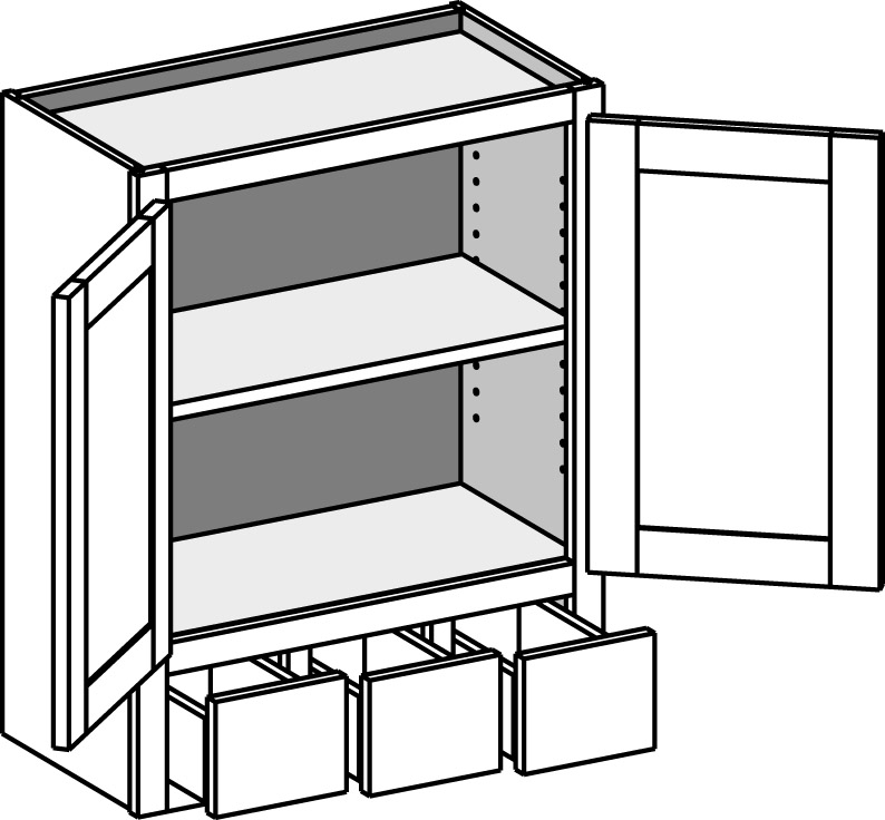 Kitchen Upper Cabinet With Drawers: Cabinet Joint