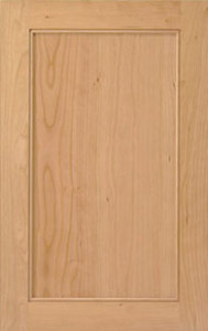 Albany door (wall doors are 3 panel high), Cherry w/ Chestnut stain