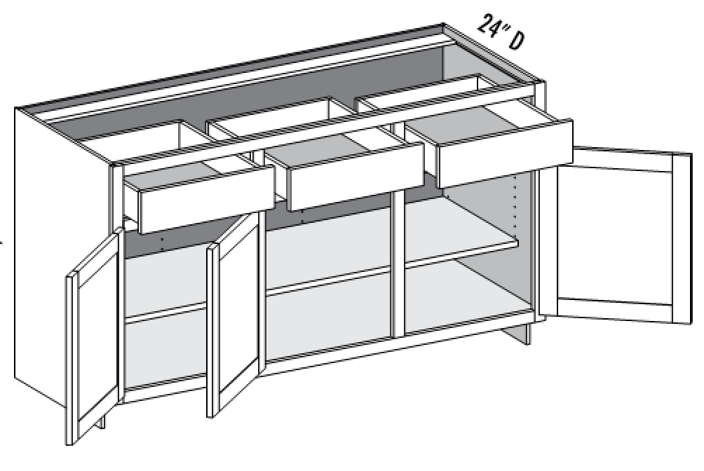 Base cabinets cabinet joint for Base kitchen cabinets without drawers