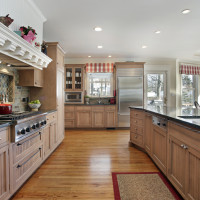 Albany w/Grooved panels, Maple w/Mesa stain. Beaded inset cabinets