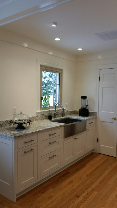 Cole project: Inset cabinetry with CRP10 door design and Crystal White Paint