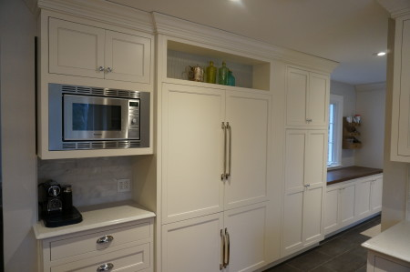 Jacob Project, Inset cabinets with Madison door and Crystal White Paint