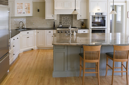Similar to our CRP-10751 Mortise & Tenon Design with Frosty white paint. Island is similar to our Sage paint.